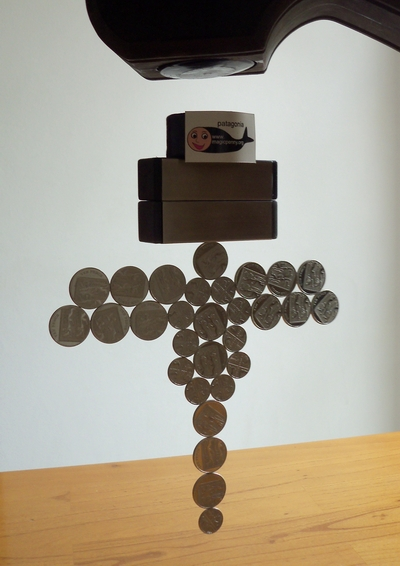 Levitating UK Magnetic Coin Sculpture